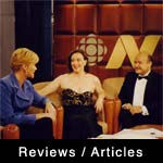 Margot Rydall and IvanZilman with Nancy Wilson, CBC Newsworld Television.